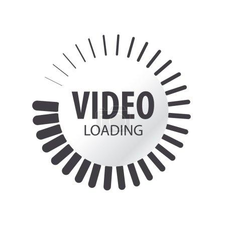 Illustration pour Logo vectoriel abstrait chargement vidéo - image libre de droit