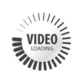 abstract vector logo video loading