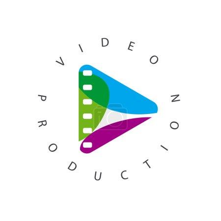 """Illustration pour Vector logo abstrait bouton """"jouer"""" - image libre de droit"""