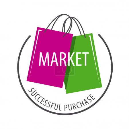 Vector logo packages for purchases of goods