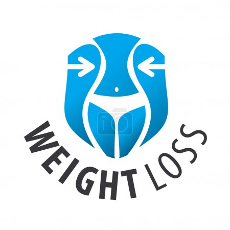 Vector logo weight loss, waist