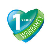vector logo in the form of heart 1-year warranty