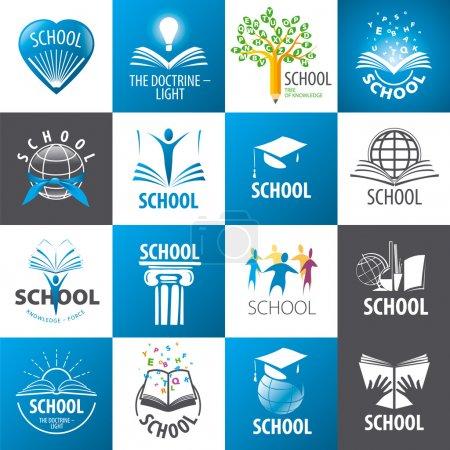 gran colección de escuela de logos vectoriales