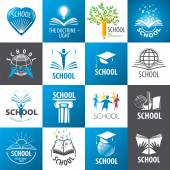 large collection of vector logos School