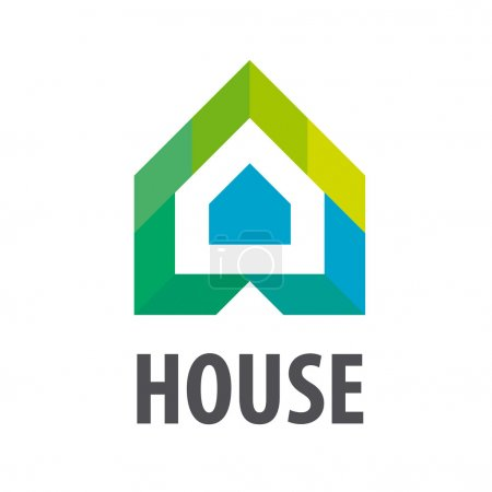 vector logo House in the form of arrows