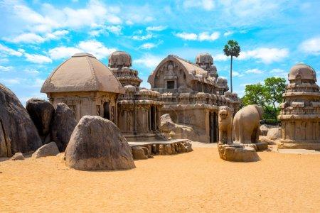 ancient Hindu monolithic Indian rock-cut architecture Pancha Rat