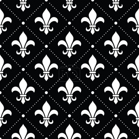 Vector repetitive background - French style design...