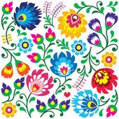 Traditional colorful background - Slavic cutout style folk art pattern