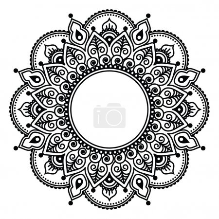 Illustration for Vector ornament - orient traditional style isolated on white - Royalty Free Image