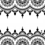 Постер, плакат: Mehndi Indian Henna tattoo design greetings card lace ornament