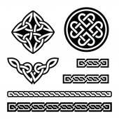 Celtic Irish patterns and braids - vector St Patrick's Day