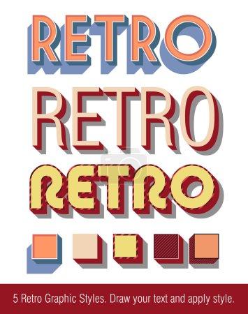 Retro Text Graphic Styles