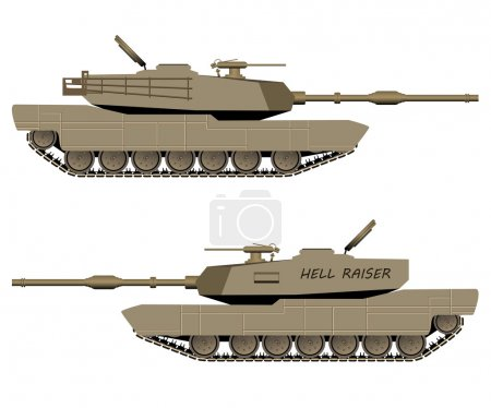 Vector Battle Tank