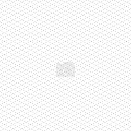 Illustration for Seamless Isometric Grid Pattern - Royalty Free Image