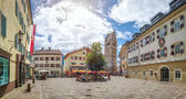 Zell am See town square with church, Salzburger Land, Austria