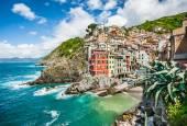 Riomaggiore fisherman village in Cinque Terre, Liguria, Italy