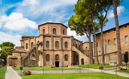 Famous Basilica di San Vitale in Ravenna, Italy