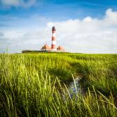 Traditional lighthouse at North Sea