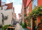 Colorful houses in famous Schnoorviertel in Bremen, Germany