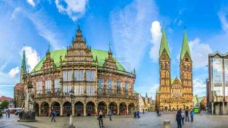 Famous Bremen Market Square in the Hanseatic City Bremen, Germany