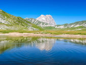 Gran Sasso mountain summit at Campo Imperatore plateau, Abruzzo, Italy