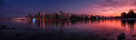 Panoramic view of impressive Vancouver skyline and...