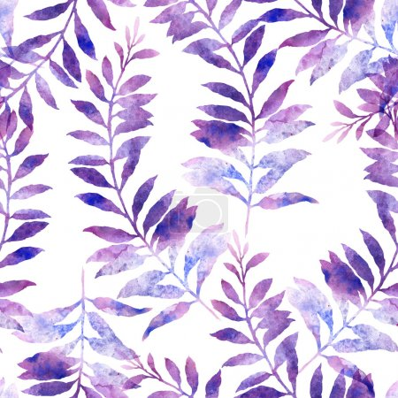 imprint of plant - seamless pattern