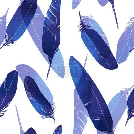Bird feathers seamless pattern