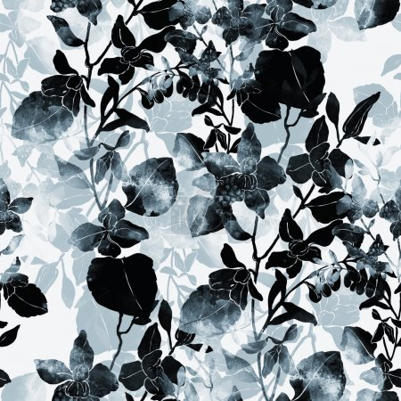 Abstract bouquet seamless pattern