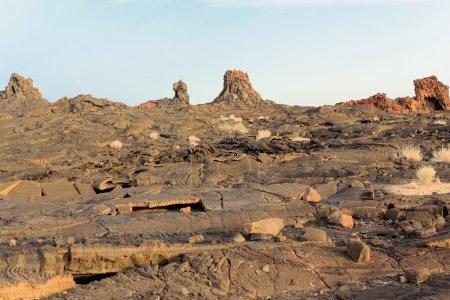 Volcanic rocky landscape-Erta Ale volcano. Danakil depression-Ethiopia. 0248