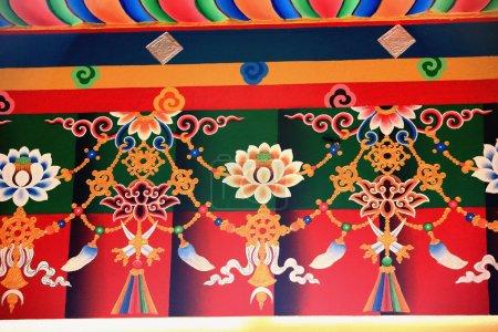 Buddhist wall decoration. Thrangu Tashi Yangtse Monastery-Nepal. 0985
