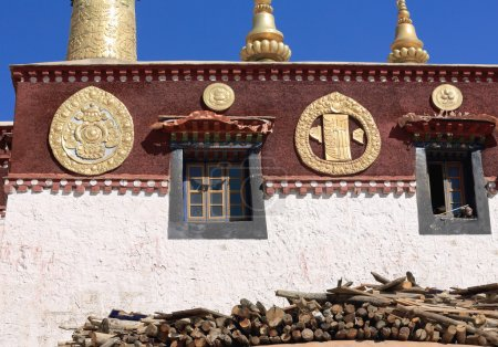Firewood in Drepung monastery. Lhasa-Tibet-China. 1223