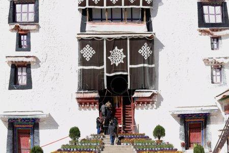 Locals entering the Potrang Karpo. Potala Palace-Lhasa-Tibet. 1391
