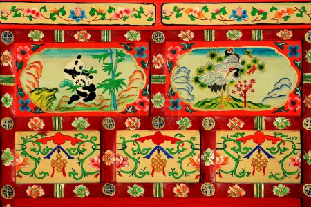 Red lacquered ark. Gyantse-Tibet. 1596