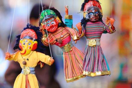 Traditional nepalese puppets-marionettes. Kathmandu-Nepal. 2023