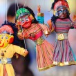 Traditional colorist nepalese paper mache puppets ...