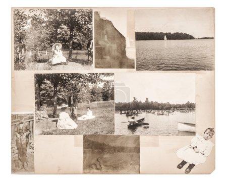 Photo pour Page d'album photo vintage. photographies anciennes d'environ 1880. Scrapbooking - image libre de droit