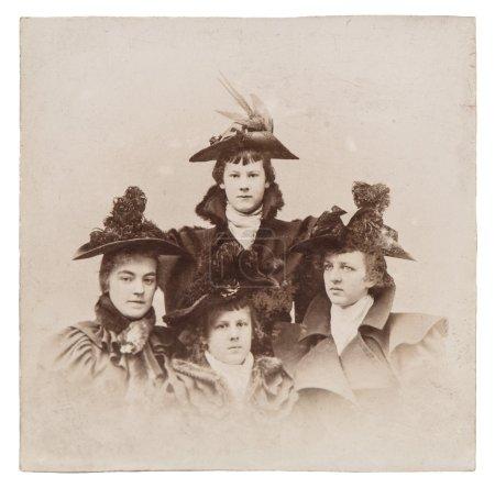 USA - CIRCA 1880s : vintage portrait of ladies wea...