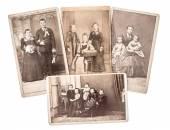 Vintage rodina a svatební fotografie cca 1880-1900