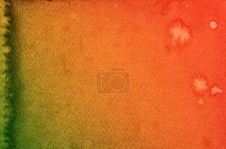 Paper texture. watercolor background red yellow green