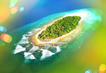Tropical Maldives landscape