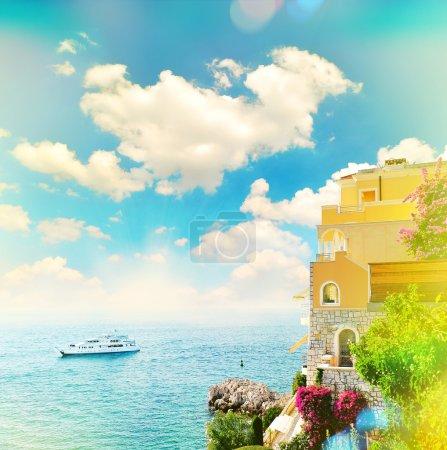 Beautiful mediterranean landscape. view of sea