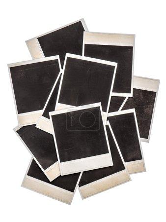 Foto de Viejos marcos de fotos instantáneas aisladas en el fondo. Objetos vintage - Imagen libre de derechos