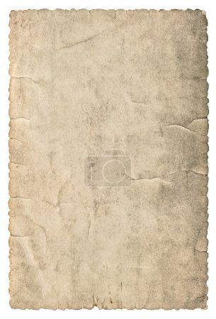 Photo pour Vintage grungy carton avec les bords. Texture de papier usagé isolé sur fond blanc - image libre de droit