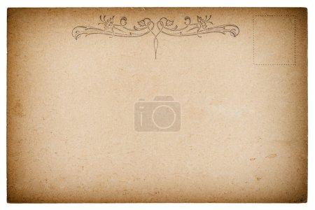 Photo pour Carte postale de style antique vide. Fond de papier Vintage style rétro. Texture avec vignette - image libre de droit