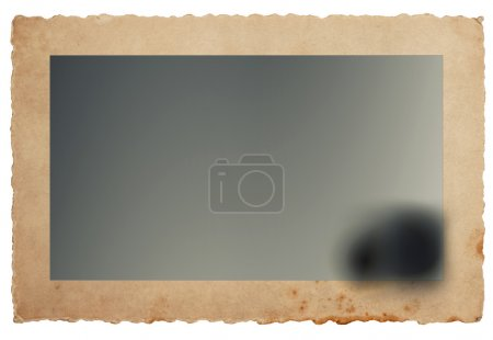Photo for Retro photo card with edges. Grungy paper background. Vintage style toned picture - Royalty Free Image