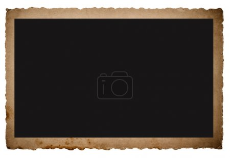 Photo for Vintage picture frame isolated on white backfround - Royalty Free Image