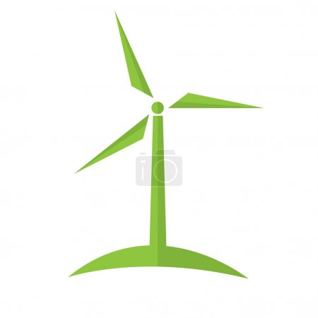 Wind turbine alternative energy. Ecology concept.