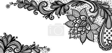 Illustration pour Conception vectorielle en dentelle noire. Fond floral - image libre de droit