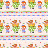 seamless pattern with clowns